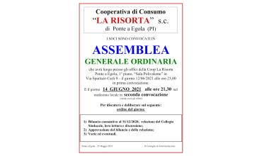 12/06/2021 - ASSEMBLEA GENERALE ORDINARIA